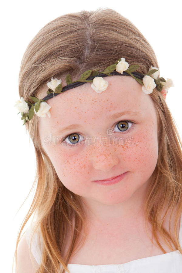 Download Freckles child stock image. Image of pretty, little, face - 24742327