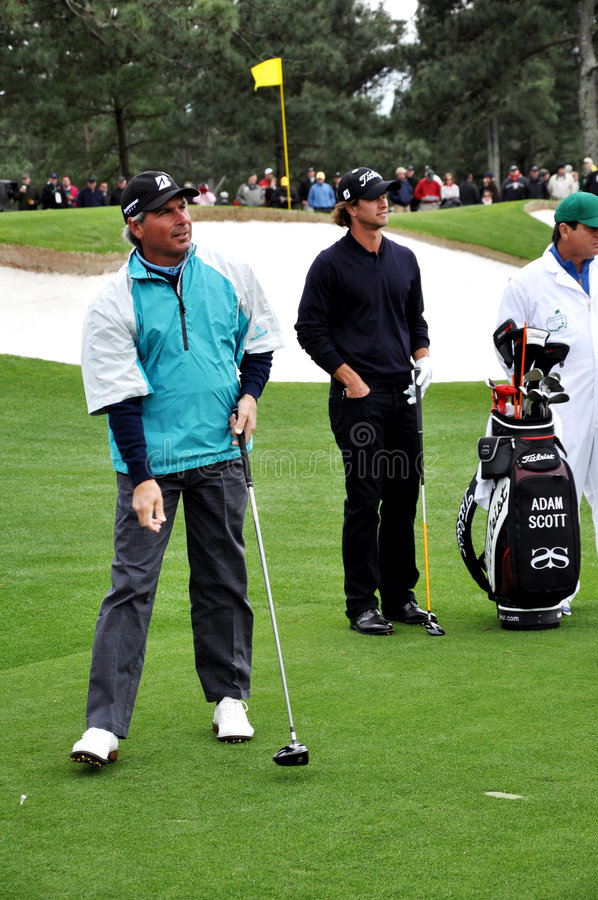 Free Fred Couples And Adam Scott At 2009 Masters Stock Photos - 8902153