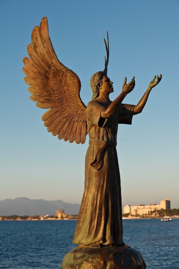 fred för ängelhopebudbärare royaltyfri bild