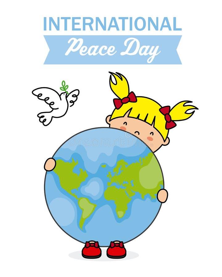 fred för international för dagduvajordklot royaltyfri illustrationer