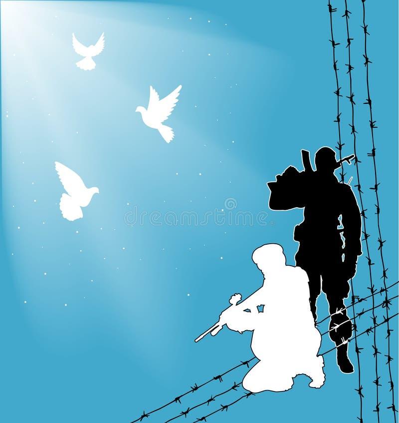 fred kriger royaltyfri illustrationer