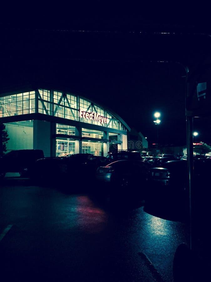 Fred Meyer Ballard Seattle noc outside zdjęcie royalty free
