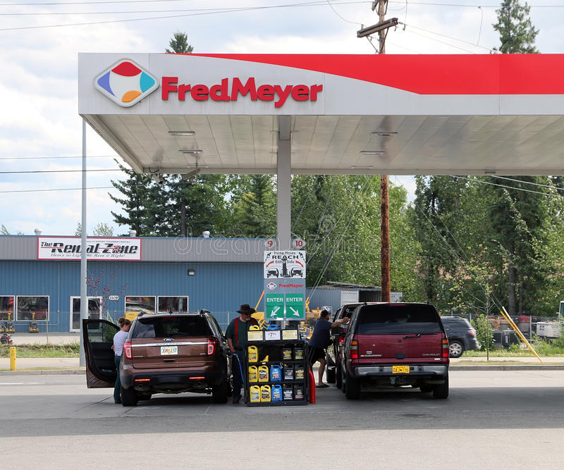 Fred Meyer Gas Station royalty-vrije stock afbeelding