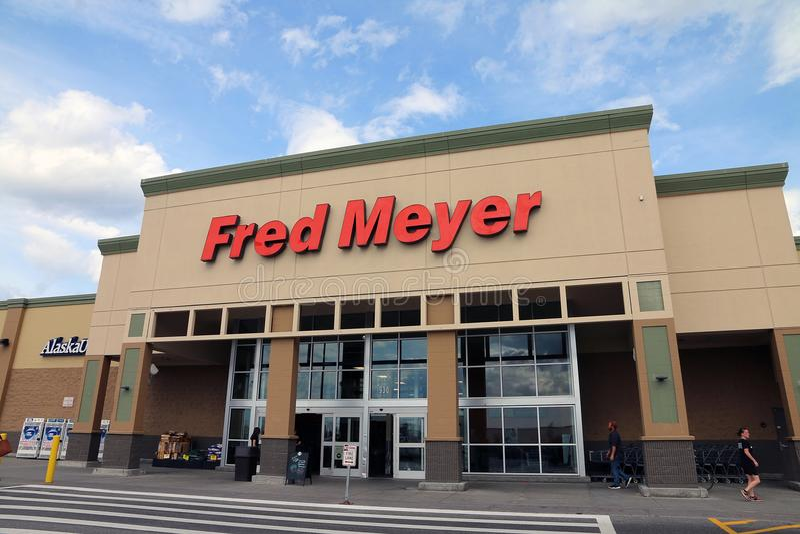 Fred Meyer, una cadena de Superstores foto de archivo