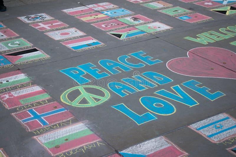 fred och förälskelse royaltyfria bilder