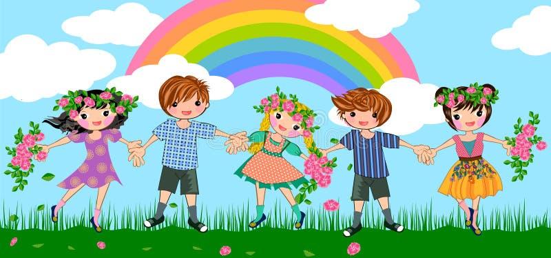 Fred och glädje royaltyfri illustrationer