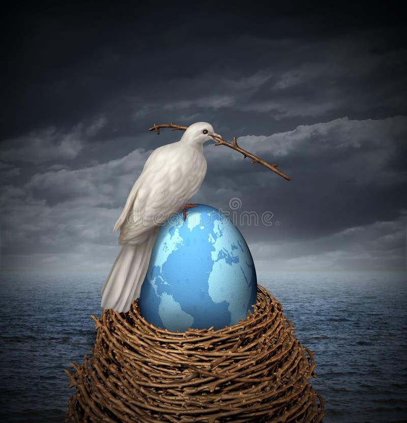 Fred på jord stock illustrationer