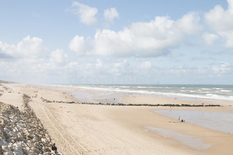 Fred på stranden royaltyfria bilder