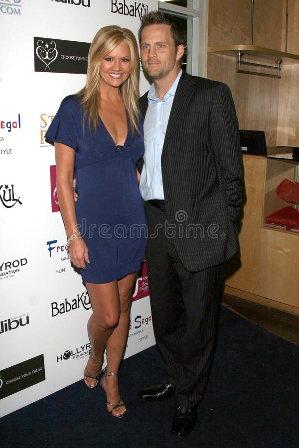 Fred Segal, Nancy O'Dell. Nancy O'Dell and husband Keith at the Choose Your Cause Event. Fred Segal, Santa Monica, CA. 10-25-07 stock photos