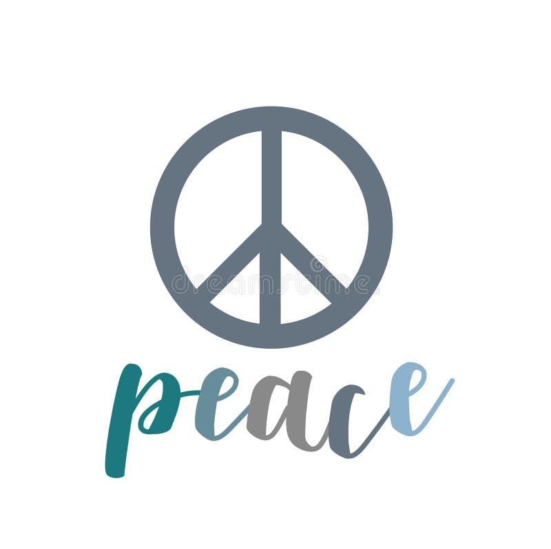 Fred symbolet av fred stock illustrationer