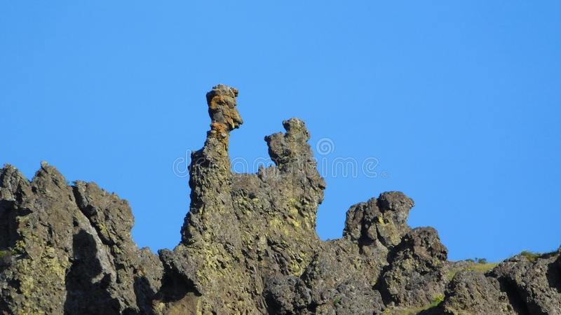 Fred und Barney Rock Formation lizenzfreies stockfoto