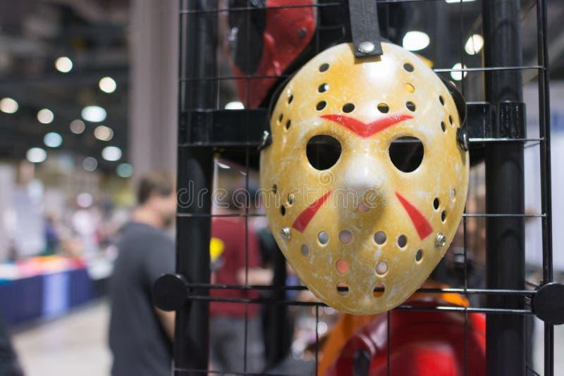 fredag den 13th Jason Voorhees Hocke Mask royaltyfria bilder
