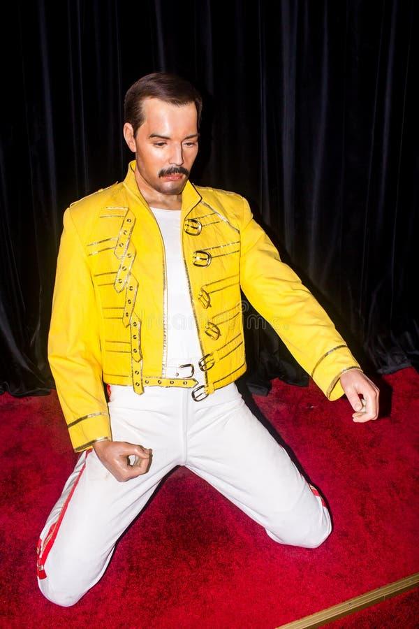 Freddie Mercury, estátua da cera, Praga imagens de stock