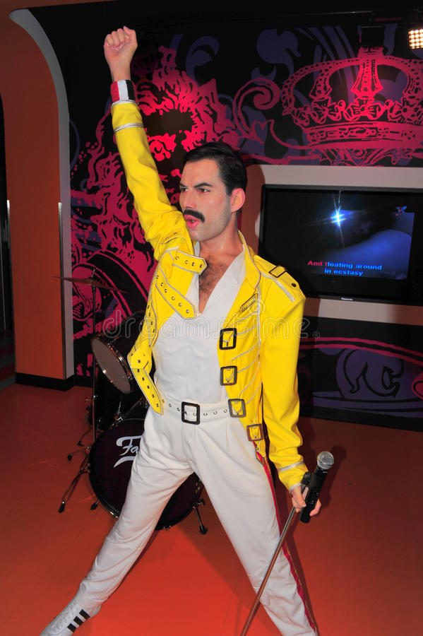 Freddie Mercury at Madame Tussaud's royalty free stock image