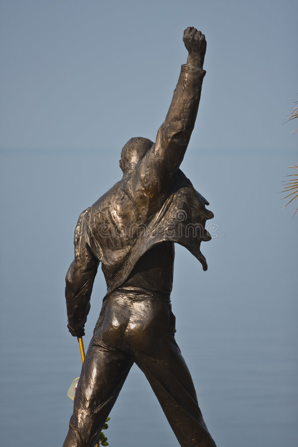 Download Freddie Mercury monument stock photo. Image of musician - 7995598
