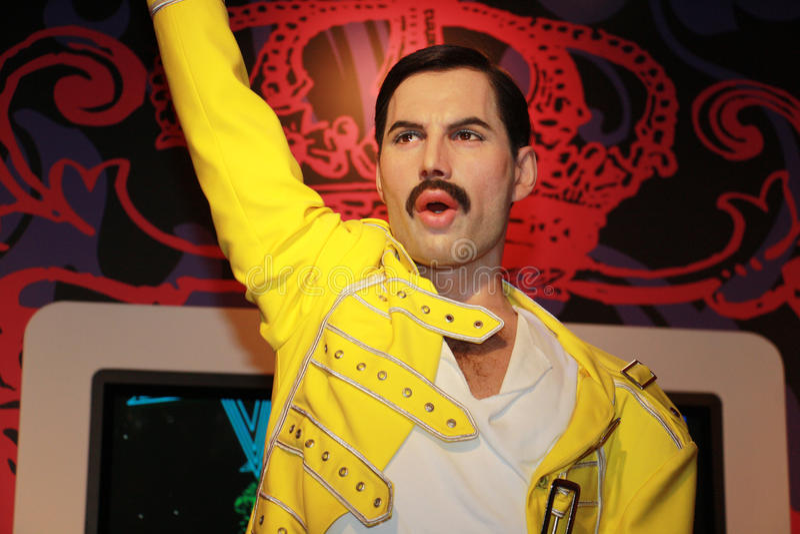 Freddie mercury royalty free stock photo