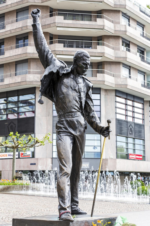 Freddie Mercury Statue imágenes de archivo libres de regalías