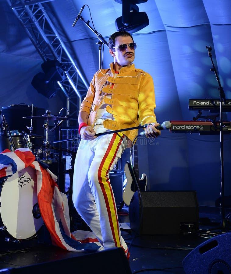 Freddie Mercury Tribute royaltyfri fotografi