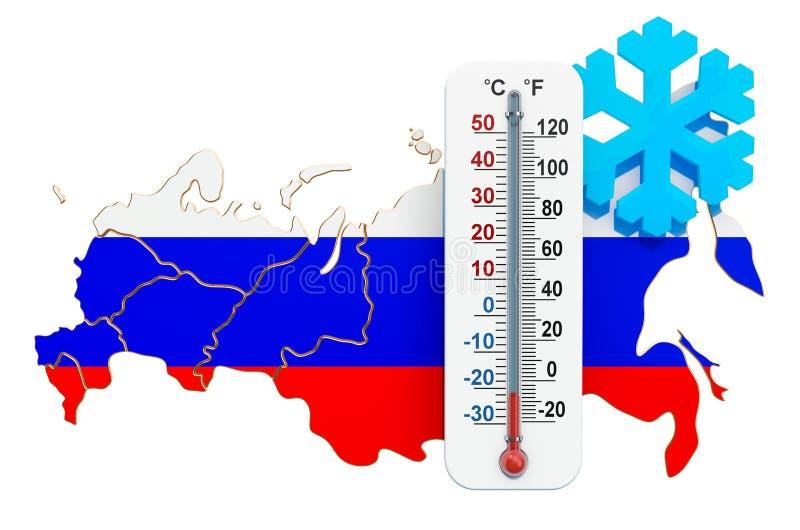 Freddo estremo nel concetto della Russia rappresentazione 3d illustrazione vettoriale