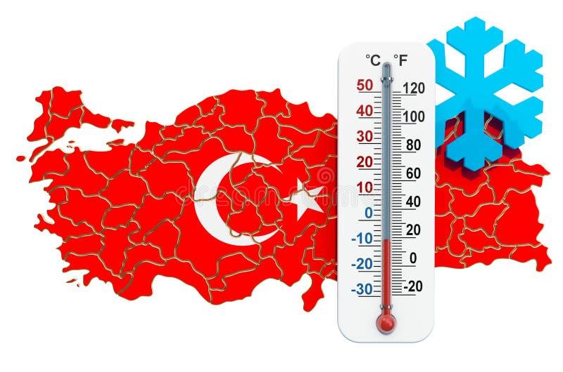 Freddo estremo nel concetto della Turchia rappresentazione 3d royalty illustrazione gratis