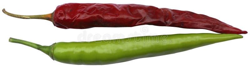 Freddo verde e rosso fotografia stock