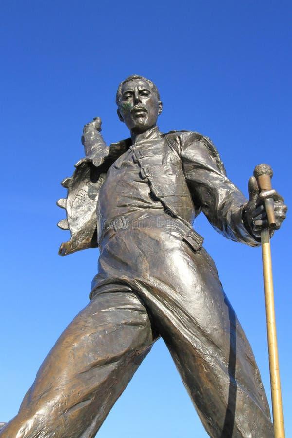Freddy Mercury staty, Montreux, Schweitz arkivbild