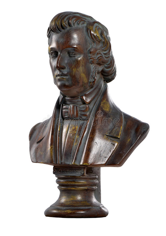 Frederic Chopin, composer, 1810-1849 royalty free stock images