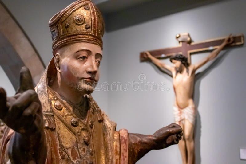 Frederic Mares Museum, Barcelona Spanje stock foto