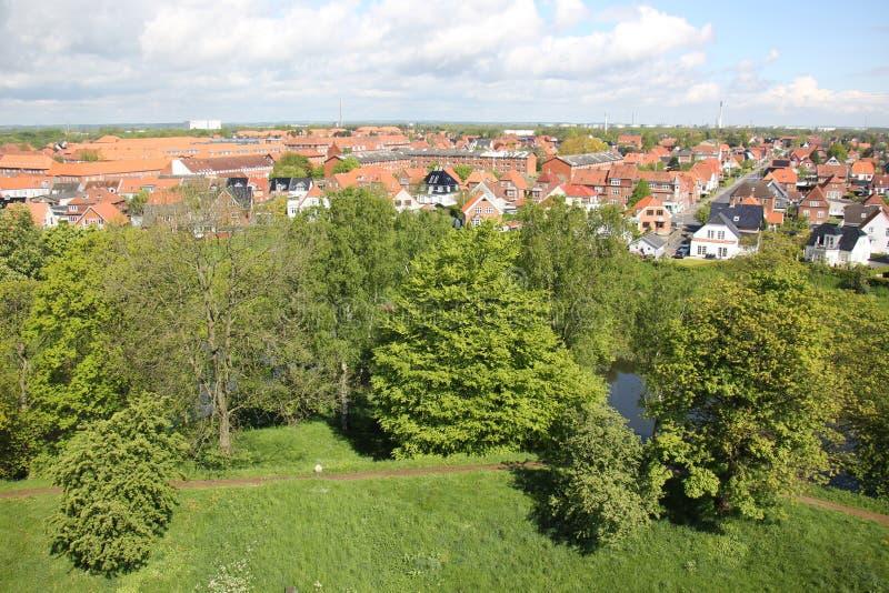 Fredericia - stad en haven in Denemarken royalty-vrije stock afbeelding