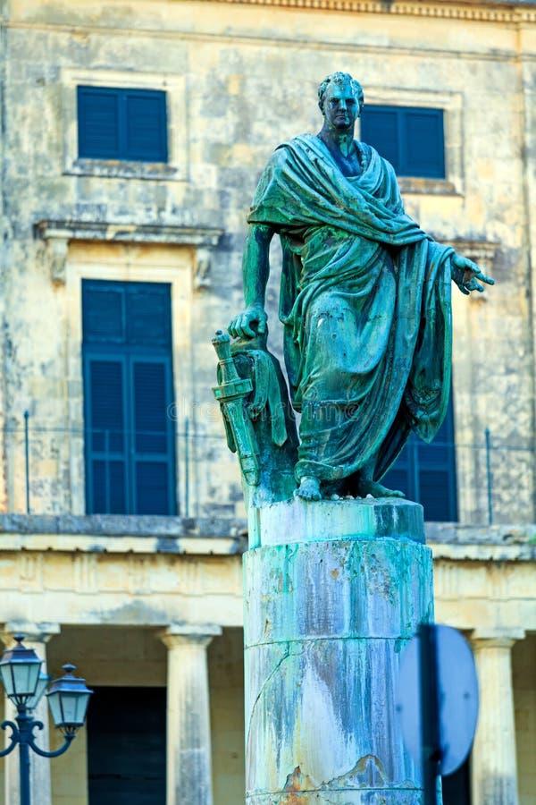 Frederick Adam statue, Corfu, Greece stock images