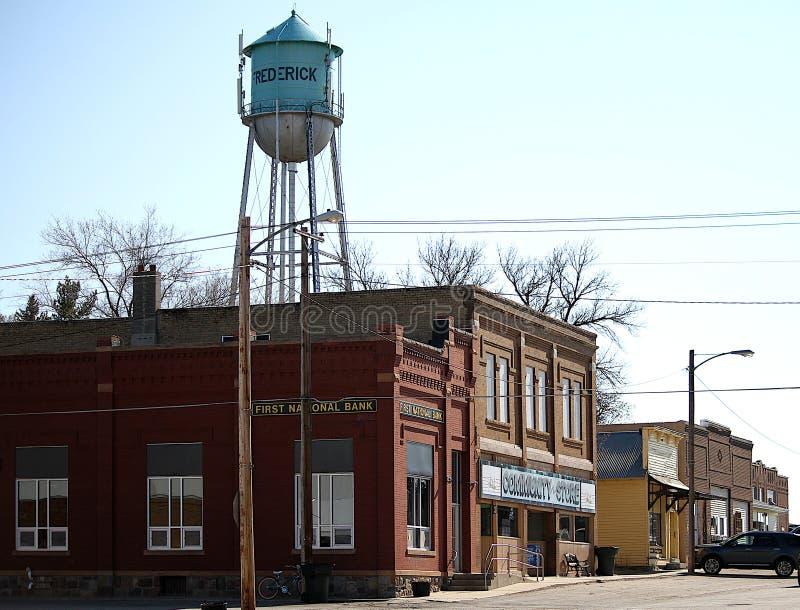 Frederick, Dakota del Sur, Main Street imagenes de archivo