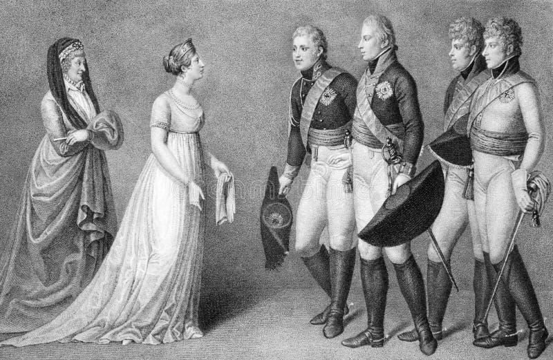 Frederick William et Louisa de la Prusse photos libres de droits