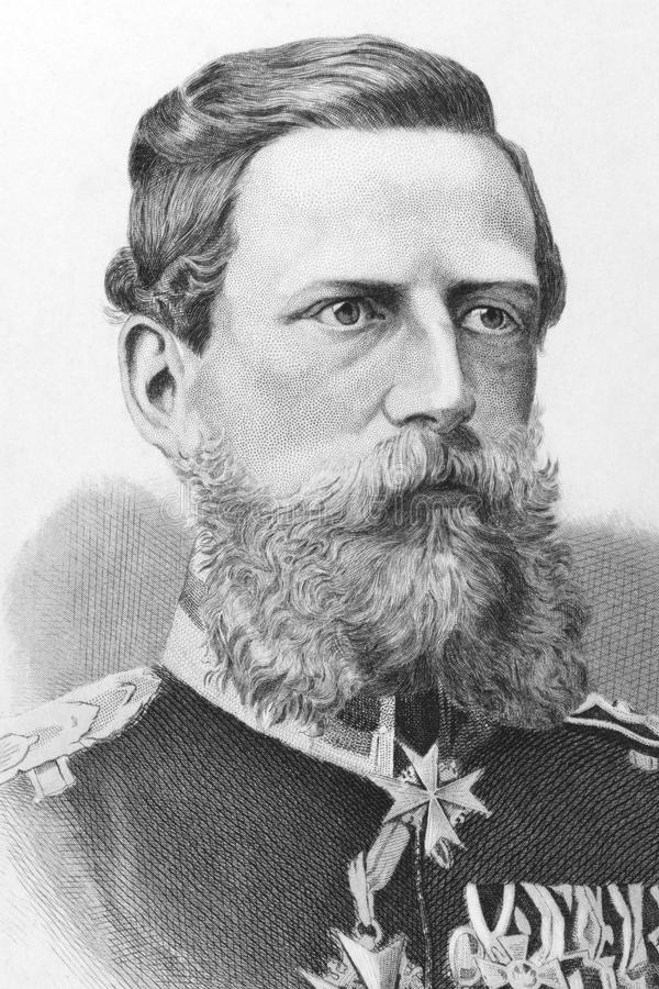 Frederick William III. German Emperor (1831-1888) on engraving from the 1800s. Published in London by James Hagger stock photography