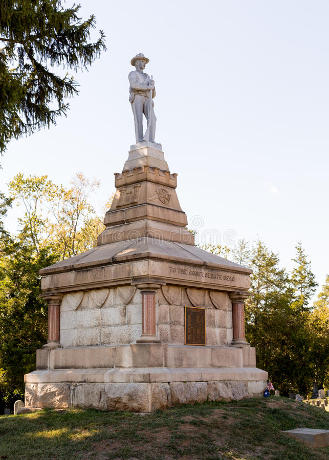 Fredericksburg的VA同盟墓地 免版税图库摄影