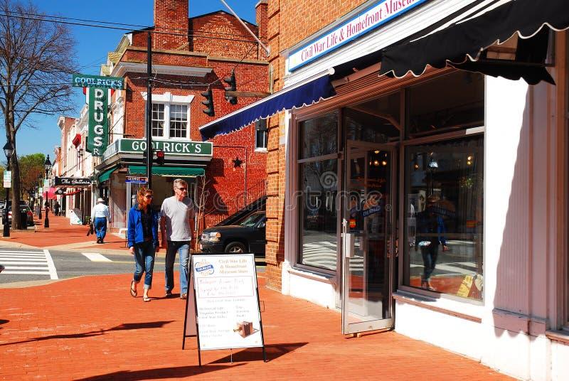 Fredericksburg de charme, la Virginie photographie stock libre de droits