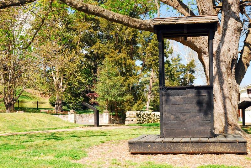 Fredericksburg military park. An historic well along the Sunken Road at the Fredericksburg military park royalty free stock photo