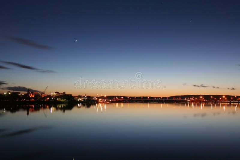 Fredericton τη νύχτα στοκ εικόνες με δικαίωμα ελεύθερης χρήσης