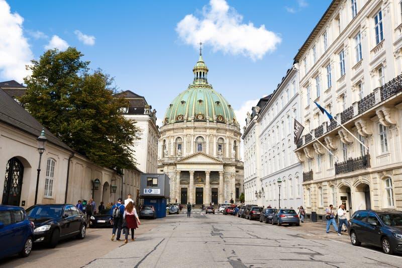 Frederik ` s kościół w Kopenhaga zdjęcie royalty free