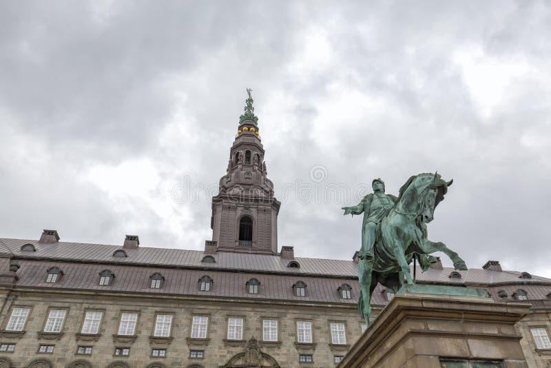 Frederik VII и башня стоковая фотография