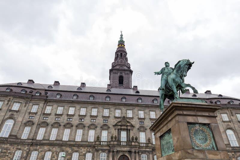 Frederik VII и башня стоковое фото rf