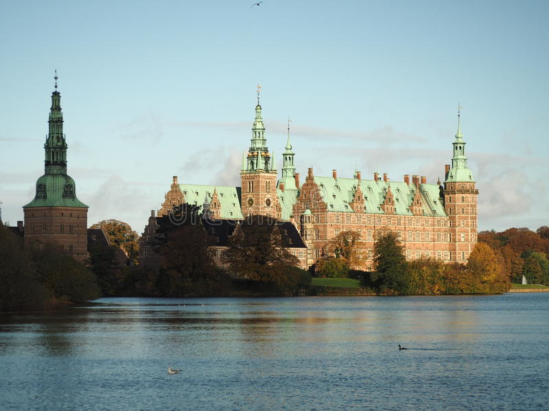 Frederiksborg kasztel Hillerod Dani zdjęcie royalty free