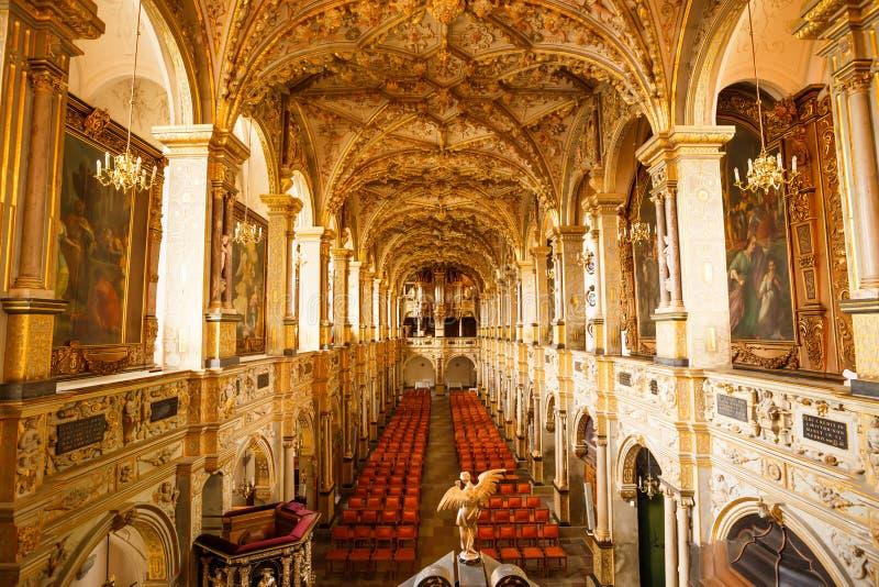 Frederiksborg kasztelu kościół obrazy stock