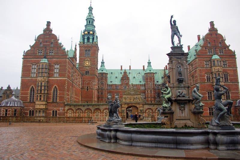 Frederiksborg pałac lub kasztel, Hillerod, Dani obrazy stock