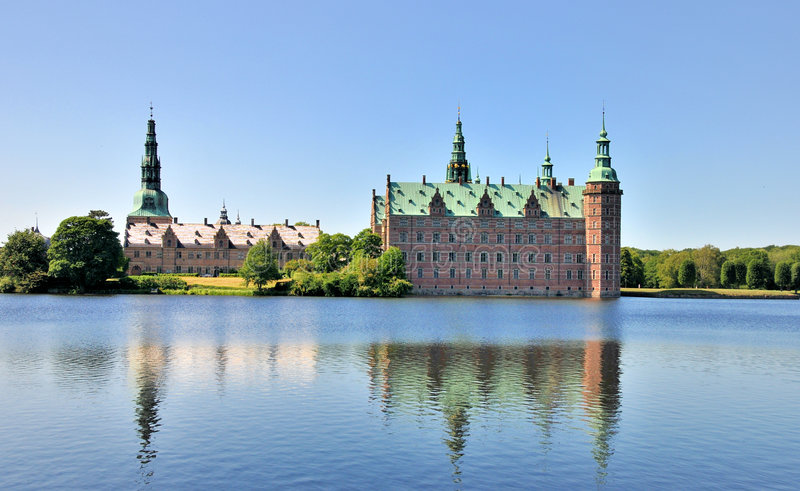 Frederiksborg-Schloss, Dänemark lizenzfreie stockfotografie