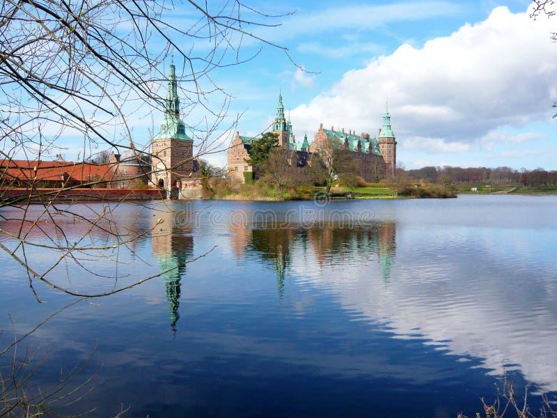 Frederiksborg-Schloss, Dänemark lizenzfreie stockbilder