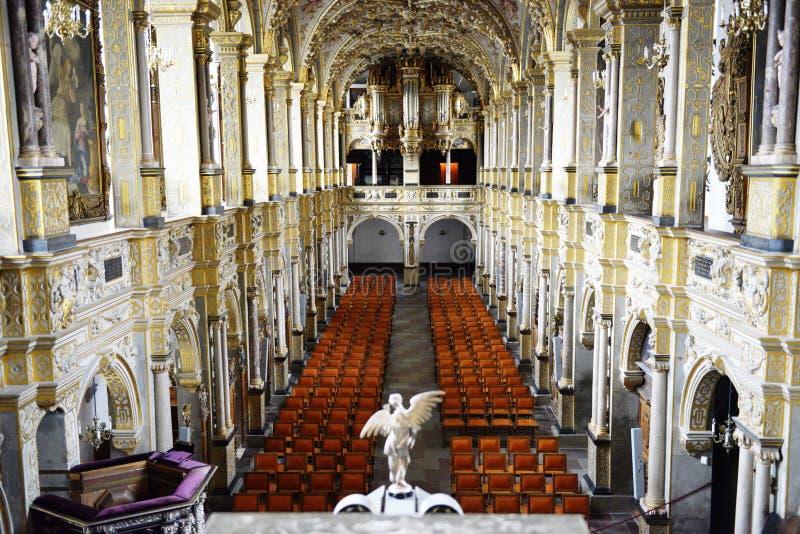 Frederiksborg szczelina kościół (kasztel) zdjęcia stock