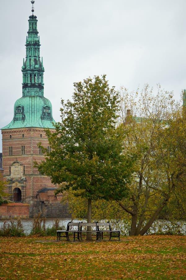 Frederiksborg szczelina w Hilleroed obraz stock