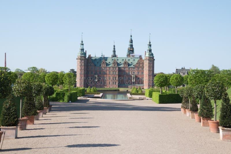 Frederiksborg szczeliny kasztel, Hilleroed, Dani fotografia stock