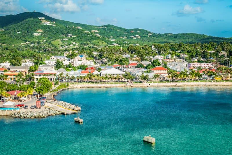 Frederiksted, Świątobliwy Croix, USA Dziewicze wyspy zdjęcie stock