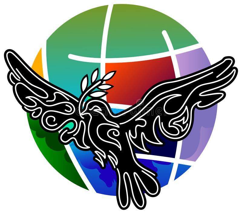 Fredfågel royaltyfri illustrationer